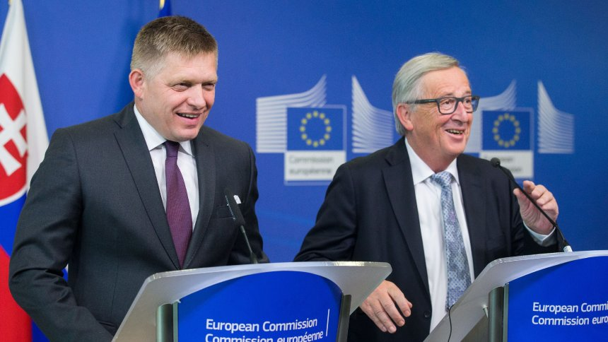 Slovakia:  PM Robert Fico reverses his rhetoric of a few months ago and suddenly embraces the leadership of Angela Merkel and Emmanuel Macron.