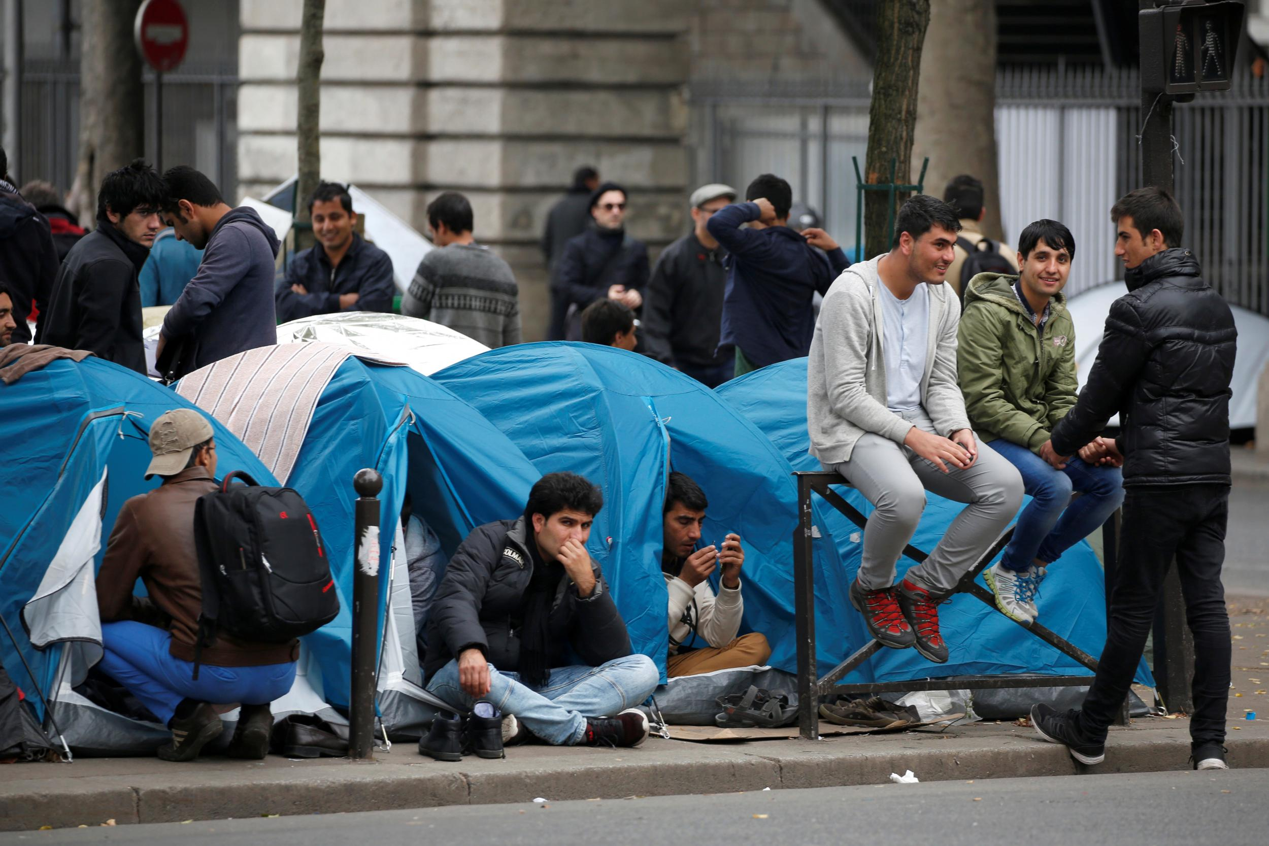 France:  The cycle never ends in France.  1,400 migrants are back after being evacuated just weeks ago from a Paris street.