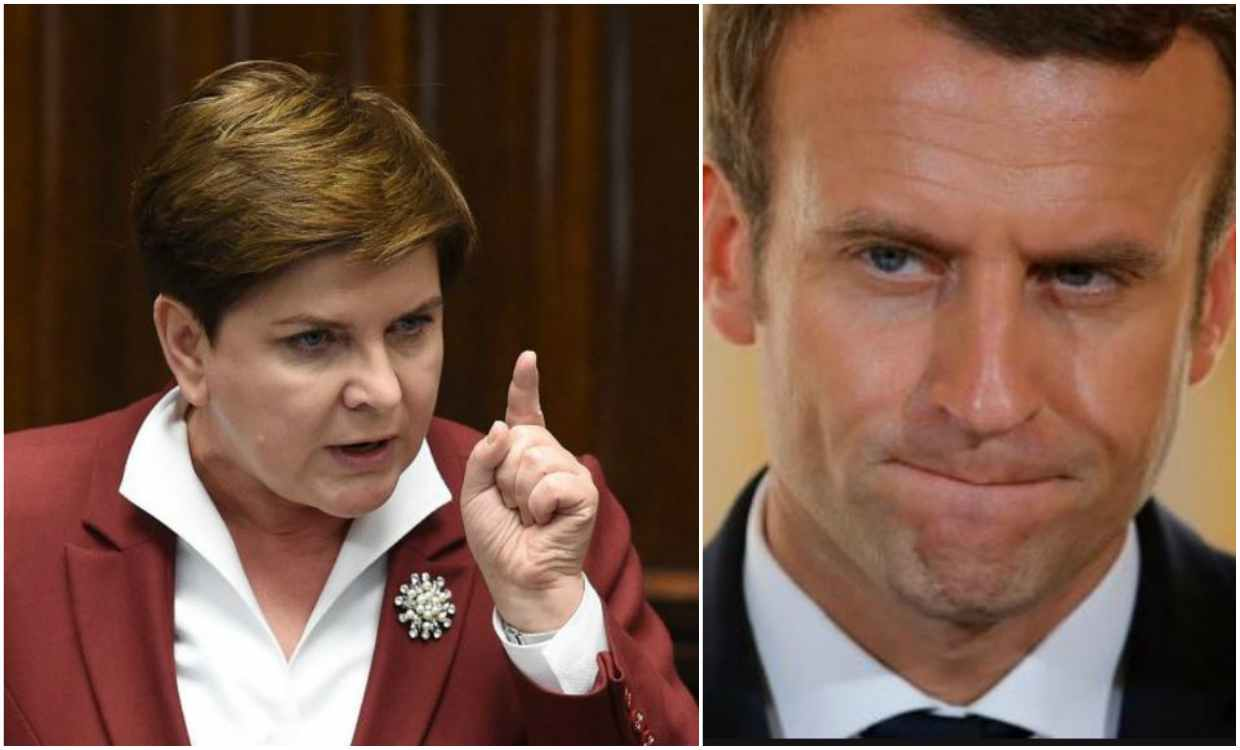 "Polish Prime Minister Beata Szydlo slams an ""arrogant"" Emmanuel Macron after the French president questions the ""values"" of Poland."