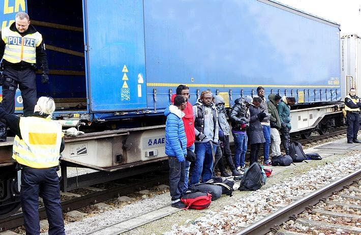 Open-border mayhem. The Federal Police near Munich picked up eleven young male migrants who had hidden in a freight train since Verona