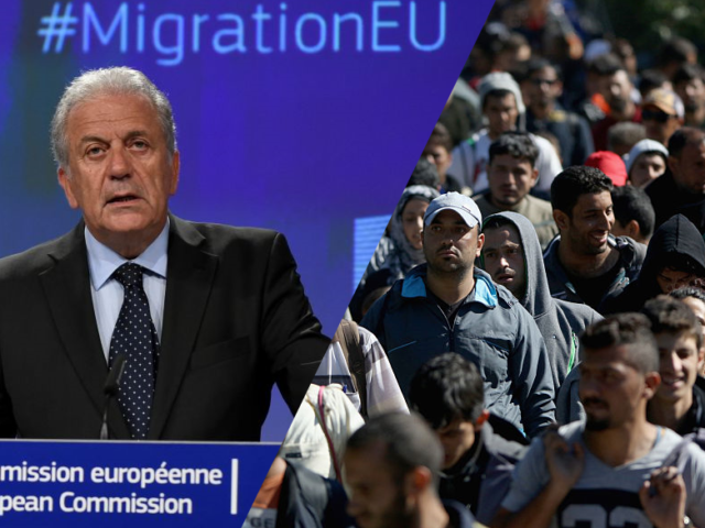 """EU Minister Dimitris Avramopoulos wants to """"commit"""" Europe to mass migration"""