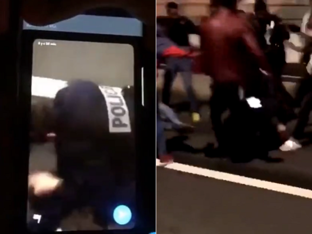 France vows to crackdown on the country's 'violent ghettos' after horrifying video of a female cop