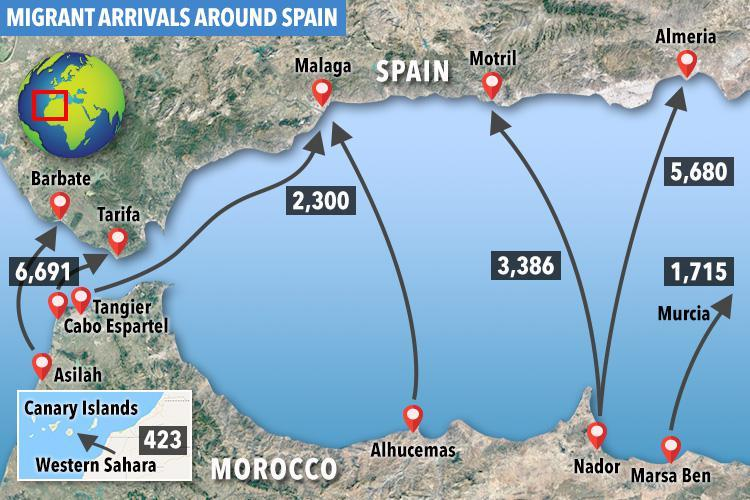 V4 Report: Human traffickers target Spain to smuggle migrants into Europe from Morocco.