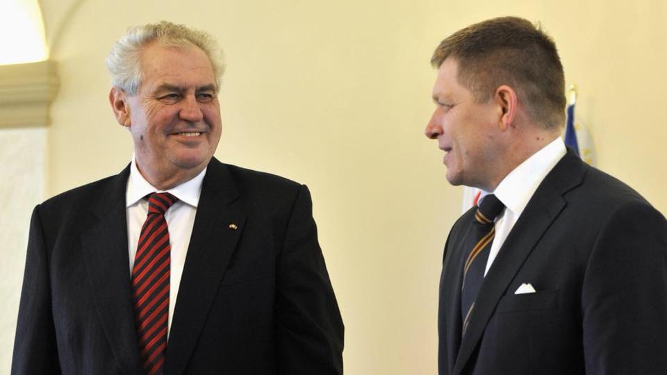 Slovakian PM Robert Fico:  Milos Zeman will further boost special Czech-Slovak relations