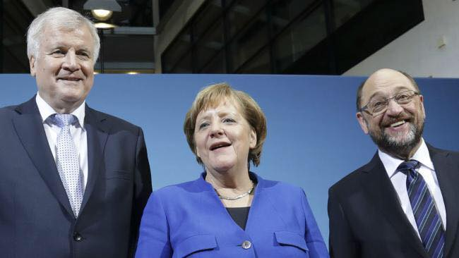 "V4 Report: Germany: Angela Merkel's Bavarian ""sisters"" at CSU warn the socialists at SPD to stick to the deal on migrants. What a ""show circus"" in Germany."