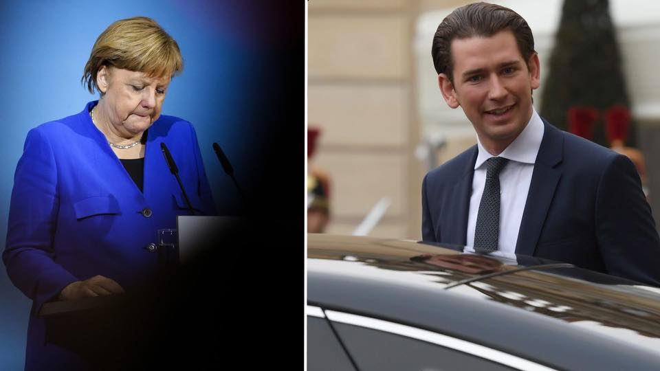 V4 Report: Austria: Sebastian Kurz Challenges : Angela Merkel for linking migrant quotas to EU Funding. When will Merkel face reality?