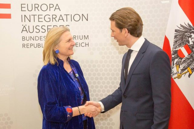 """V4 Report: Austria plans to put immigration and borders at heart of EU presidency. Kurz has surrounded himself with """"top-shelf"""" advisors and partners."""