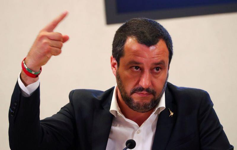"Italy's Matteo Salvini calls EU Commissioner Vera Jourová's criticism regarding his remarks on Roma as 'nonsense again from Brussels""."