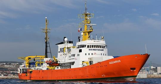 Italy:  Aquarius, a migrant transfer ship, was seized after the NGO was accused of dumping dangerous waste at Italian ports.