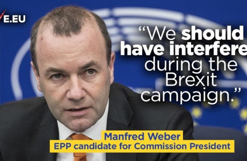 Replacing Juncker with Manfred Weber is not change, but more EU and more Berlin.
