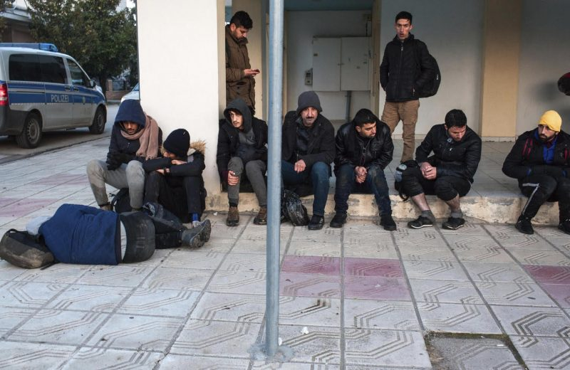 Frontex on duty?  Migrants entering Greece first look for Frontex.  Interesting.