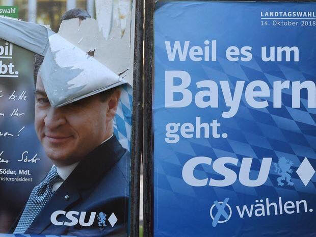 Markus Söder continues to lead the CSU of Bavaria down the path of self-destruction.