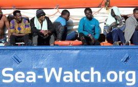 Matteo Salvini threatens to use strict new law on German NGO boat.