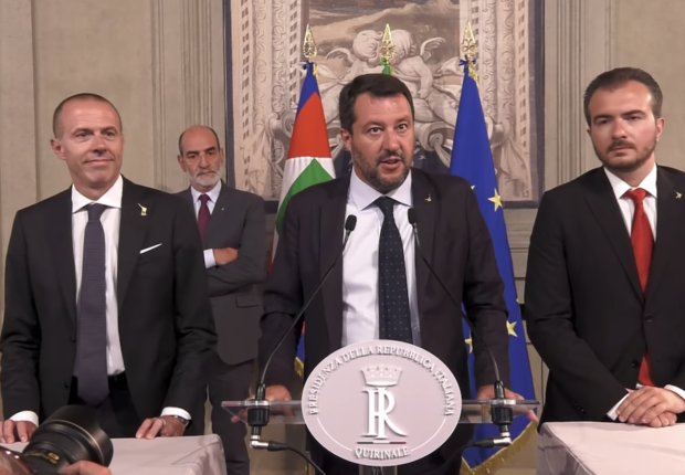 The Battle of the Mediterranean:  Salvini, alone, fights on.
