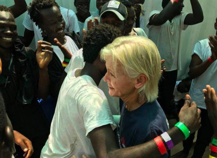 New EU government in Italy welcomes 82 illegals to be resettled in Europe from NGO transfer boat Ocean Viking.