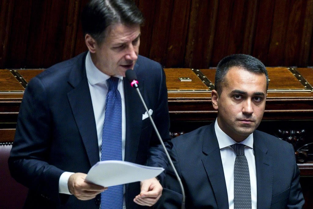 """The EU's new PM in Italy, Giuseppe Conte, suggests EU """"humanitarian corridors"""" for migrants."""