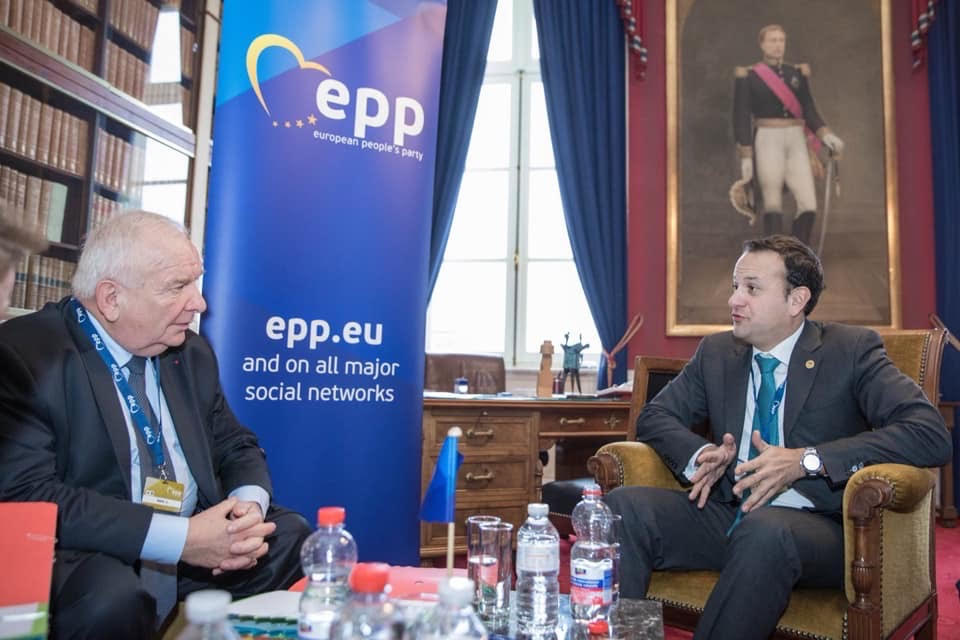 """Ireland """"all-in"""" with migrants and NGOs.  PM Leo Varadkar (EPP Party) is greatly admired in Brussels for his obedience.  He is certified """"EU-compliant"""" 🕺🇪🇺"""
