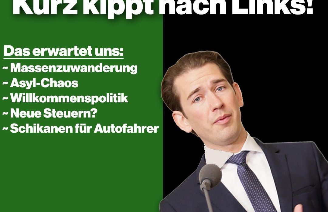 Austria:  Is Sebastian Kurz about to lose all credibility and his Soul by forming a coalition with the Greens.