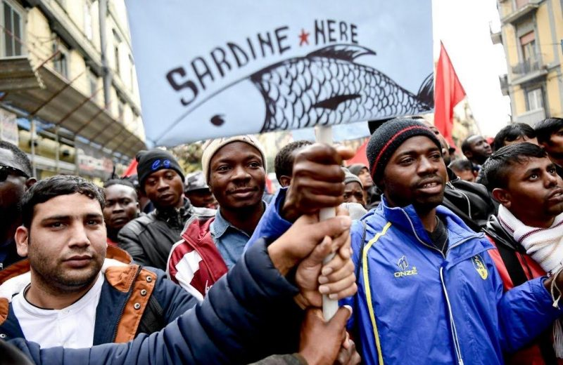 The Black Sardines. Look who is protesting Matteo Salvini 😂