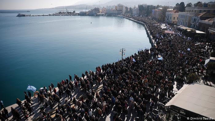 Greece:  Protests intensify as Greeks demand 'We want our island back…We want the life back that we had before.'