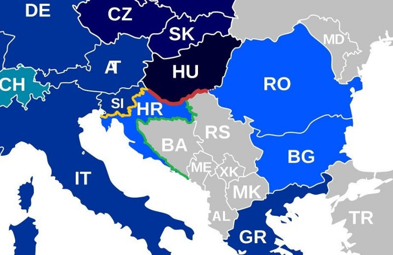 "The different tactics used by Hungary, Slovenia and Croatia to defend borders:  The Hungarian barrier is ""top shelf""."