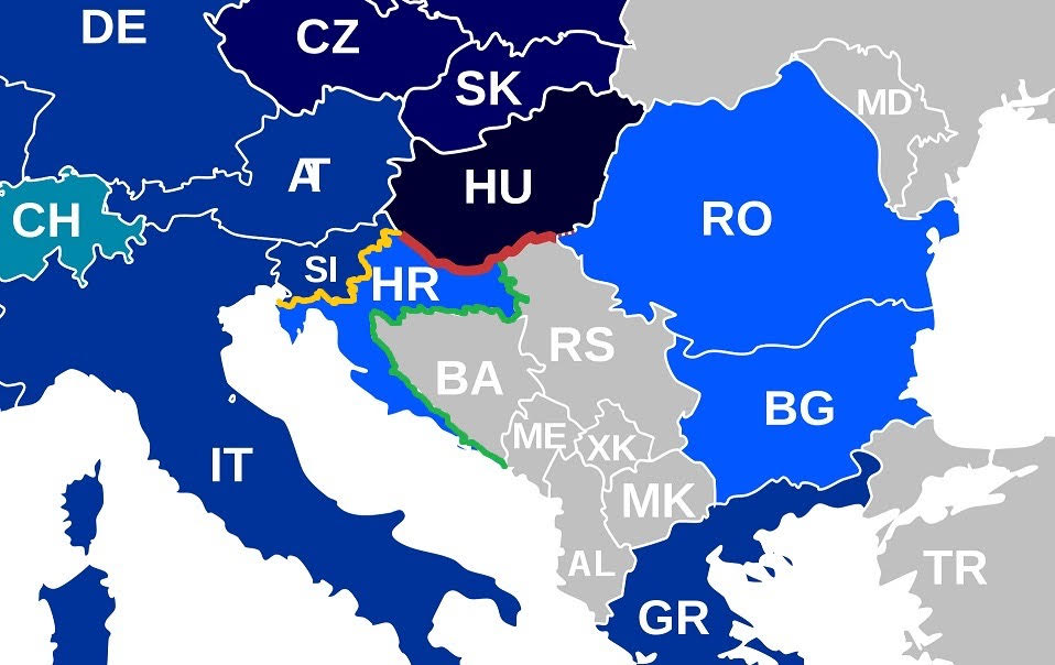 """The different tactics used by Hungary, Slovenia and Croatia to defend borders:  The Hungarian barrier is """"top shelf""""."""