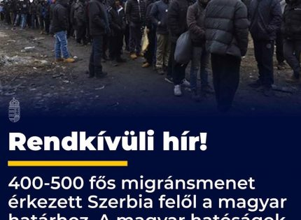 Orbán, Hungary 🇭🇺 stand firm as country closes border crossing with Serbia as hundreds of illegal migrants demand entry.