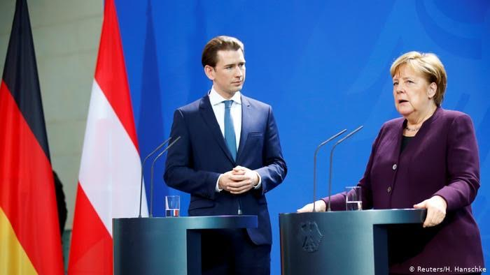 Merkel and Kurz clash on renewing EU migrant 'rescue missions' in the Med.