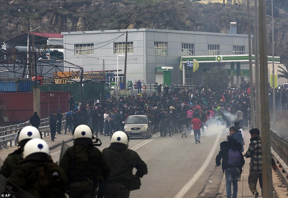 Greece in turmoil as migrants riot for second day.