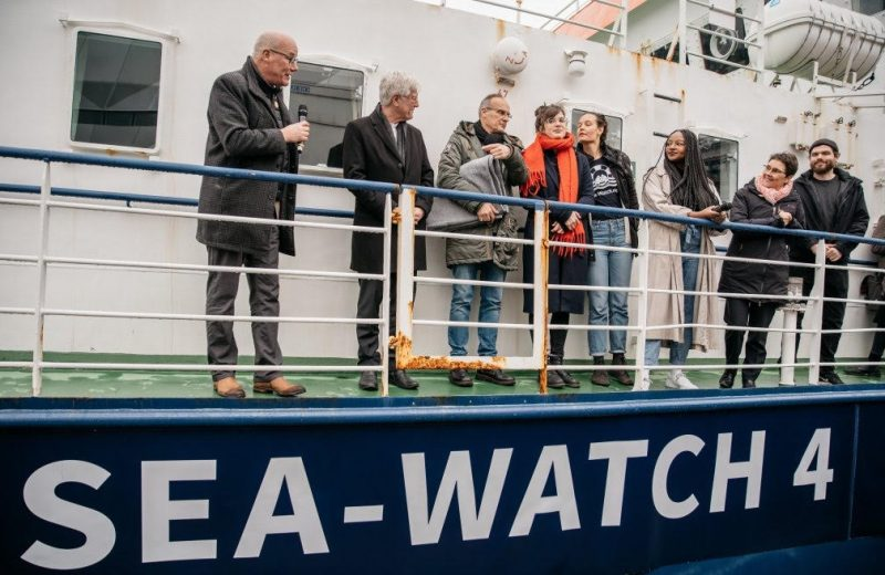 "New migrant transfer ship 'Sea-Watch 4' launched…with a ""overcapacity"" twist designed to force quick landings."