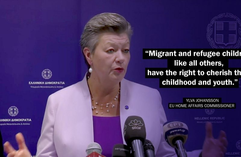 """EU Home Affairs Commissioner (Migration Minister from Sweden 😟😳) Ylva Johansson says 7 EU countries have so far offered to take in so-called """"unaccompanied minors"""" from Greece."""