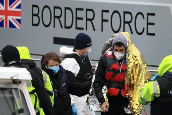 UK:  Turning back migrant boats at sea 'could be key component in tackling crossings'.