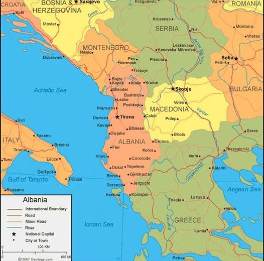 Albania: Military and police ships 'rescue' 50 Syrian illegals en route to Italy by boat.