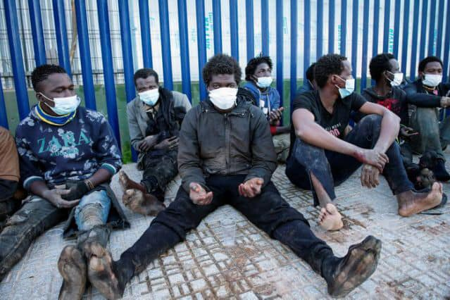 150 illegal males storm border with Spain's Melilla enclave.