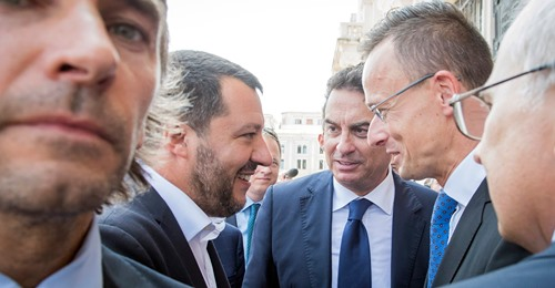 A world upside down:  Matteo Salvini faces trial for blocking illegals at sea and defending the border of Italy.