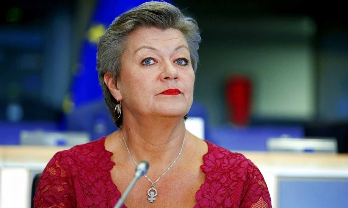 EU Migration Minister, Ylva from Sweden, let's the cat out of the bag