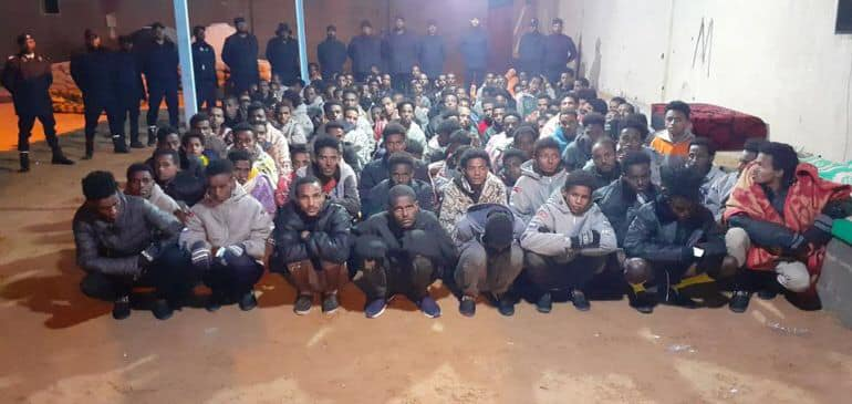 More than 150 migrants freed in raid on traffickers in Libya