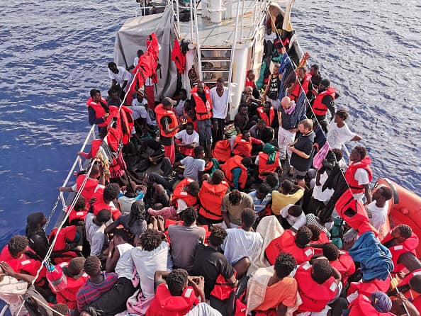 German NGO Sea Watch picks up 147 illegal migrants off the coast of Libya