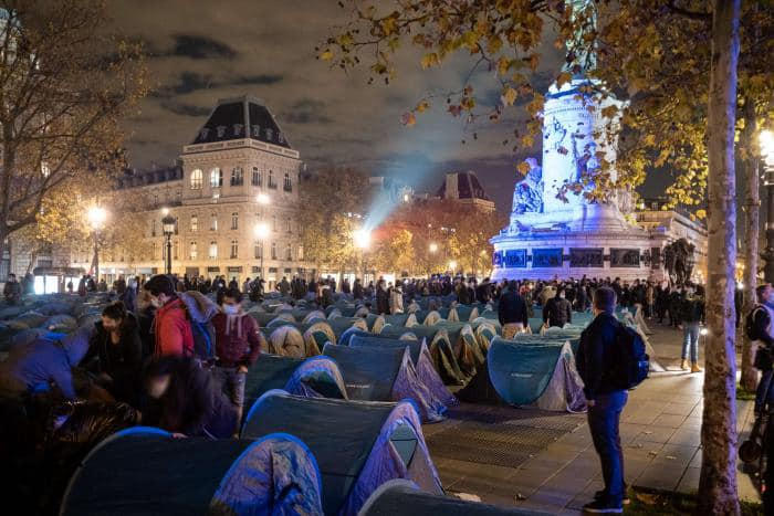 Illegals protesting in Paris call for safe housing while their applications are processed