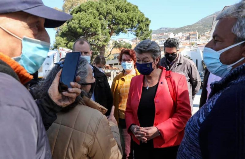 EU announces funding for new refugee camps on Greek islands