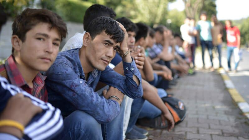 Afghan refugees housed in asylum centre in Zagreb