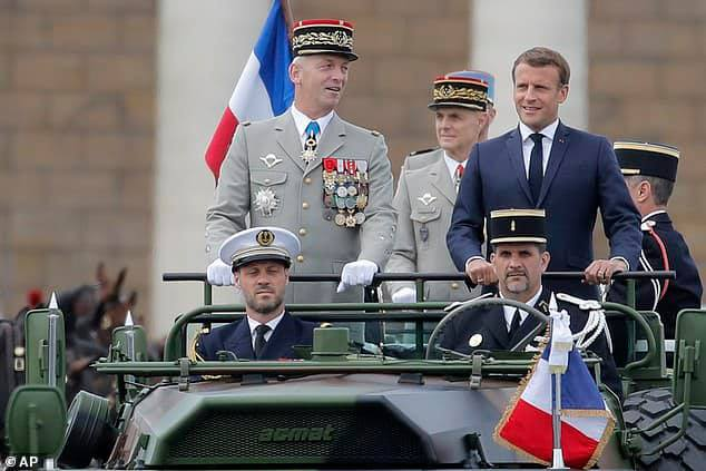 France:  President Macron feeling inadequate as retired French generals call for military rule if Macron cannot stop 'Islamists' from 'disintegrating society'