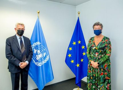 The UN says it's fully behind Ylva and the EU Commission's migration pact