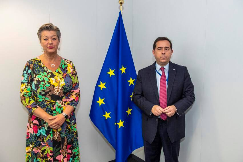 Yvla holds a Press Point with Minister of Migration and Asylum of Greece