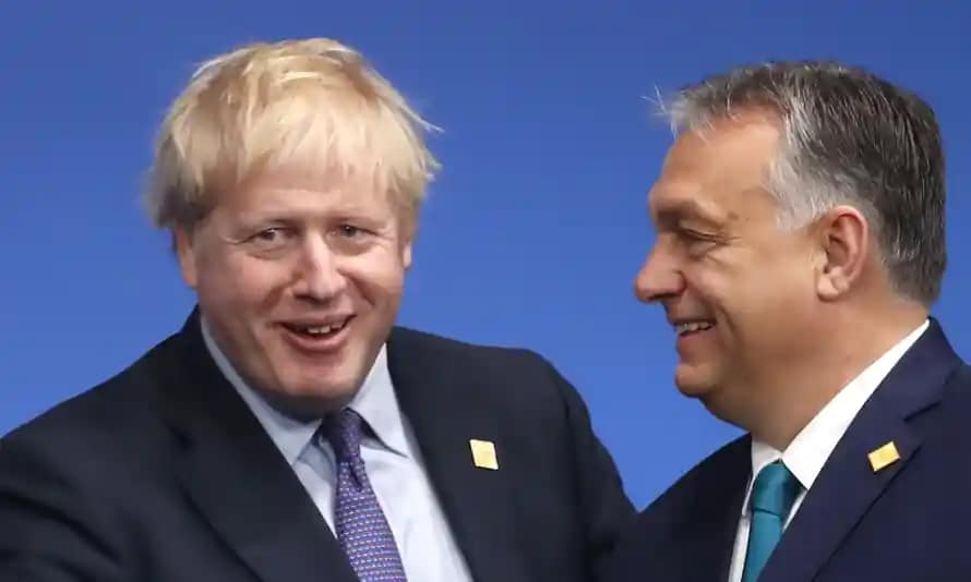 Hungarian PM Orban defends anti-migrant remarks on UK visit