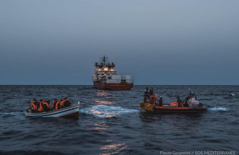 Ocean Viking traffickers (flying with a flag of Norway) picked up 572 illegals in 9 operations since last week. Their vessel Ocean Viking is now looking for a port to disembark the illegals.